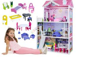Drewniany domek dla lalek BARBIE- Ogromny