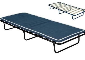 Łóżko polowe składane KRETA na deskach z materacem 5cm