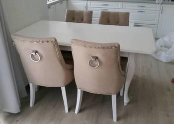 PROMOCJA krzesło tapicerowane z kołatką pikowane wygodne