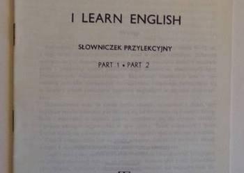 I LEARN ENGLISH SŁOWNICZEK PRZYLEKCYJNY