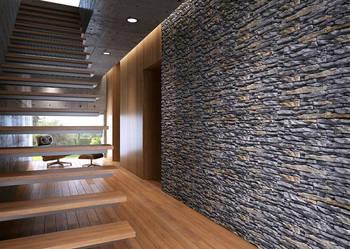 Płytki Dekoracyjne Panel 3D, Cegła z Fugą Kamień Naturalny