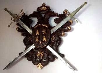 Miecze w herbie dekoracja