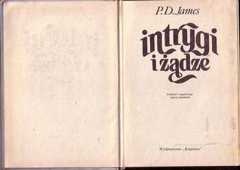 (8531) INTRYGI I ŻĄDZE – P.D. JAMES