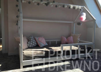 Scandi Bed - drewniane łóżeczko domek