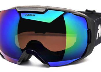 Gogle narciarskie Arctica G-103 podwójne szkła, Bezramkowe