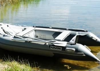 ponton MAWERIC 370 D z aluminiową podłogą, dużą knagą na dzi