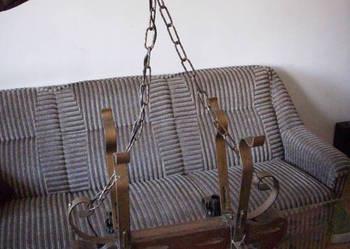 Stary,ciężki,zabytkowy żyrandol do salonu