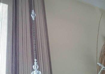 Koraliki szklane -firana , zasłona - sznur, girlanda