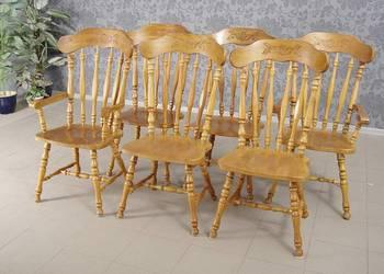 Krzesła w amerykańskim stylu 6 szt. komplet 4768