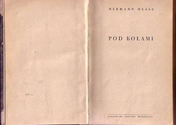 (6918) POD KOŁAMI – HERMANN HESSE