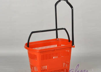 Koszyk samoobsługowy plastikowy na kółkach