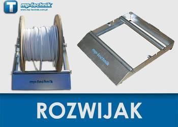 Rozwijak do bębnów kablowych z przewodami i kablami