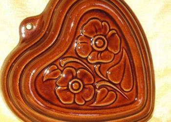 Forma ceramiczna do pieczenia w kształcie serca