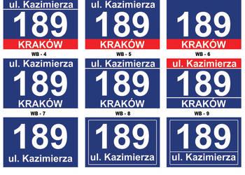 TABLICA tabliczka ADRESOWA Z NUMEREM domu i ulicą 9 wzorów