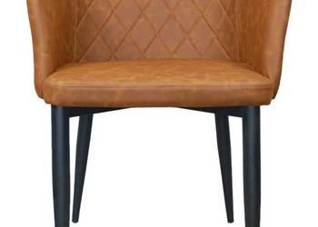 Krzesło pikowane - tapicerowane brazowe