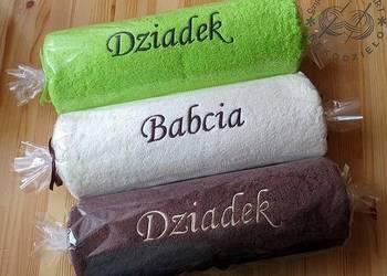 Ręcznik z HAFTEM imieniem PREZENT na DZIEŃ BABCI dla DZIADKA