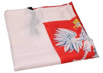 Peleryna kibica BIAŁO-CZERWONA POLSKA 150 x 90 cm