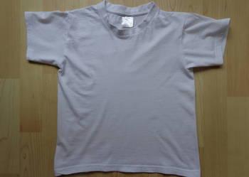 Biała bawełniana bluzeczka t-shirt B&C 122-128