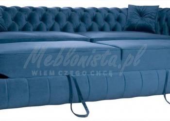 Pikowana sofa Chesterfield z wygodną funkcją spania