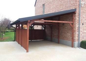 Wiata Garażowa Carport Zadaszenie Garaż drewniany Domki dach