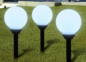 Ogrodowe lampy solarne LED 20cm, 3szt 40864