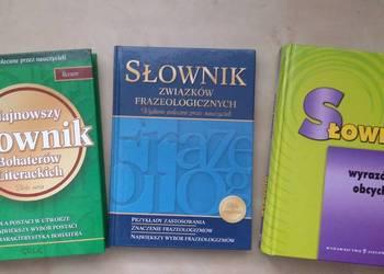 3 książki Słownik wyrazów obcych, bohaterów literackich