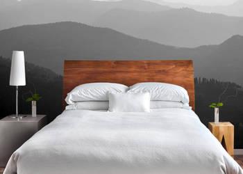 Szara fototapeta do sypialni widok pejsaż Fototapety mgła
