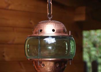 Marynistyka miedziana lampa sufitowa