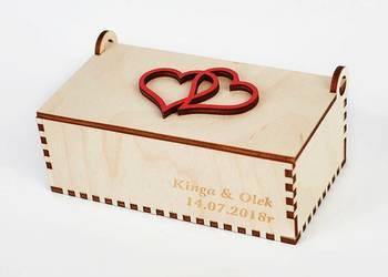 Drewniane pudełeczko na obrączki