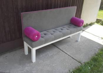 AKANT, SOFA/ ŁAWKA, proste nogi, pikowane siedzisko, glamour