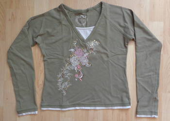 Bluzeczka CQ w serek na 145-150 na 12-13 latkę 100% bawełna