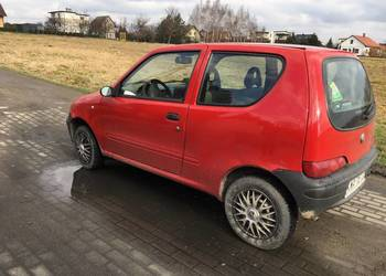 Fiat Seicento 1100 czerwony 2007r 134km uszkodzony z przodu