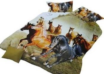 Pościel 3d 220x200 4części konie wilki psy zwierzęta