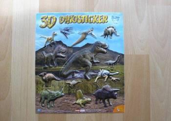 Dinozaury Dinozaur Naklejki  3D z Dinozaurami!!!! NOWE! Duża