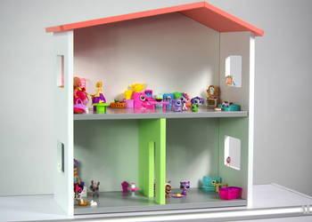 DOMEK DLA LALEK - kolorowy domek dla lalek - meble