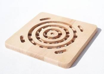 drewniana PODSTAWKA podkładka na garnek KWADRAT