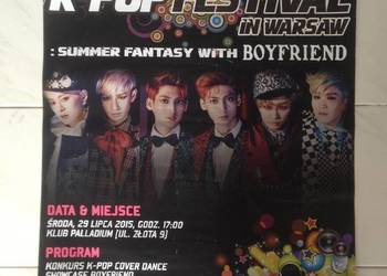Plakat duży Boyfriend G-dragon Big Bang K-POP Festival 2015