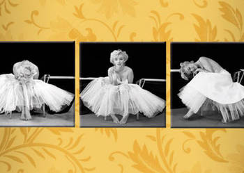 Obraz MARYLIN MONROE Ballerina 3 obrazy 30x30 cm CANVAS 100%