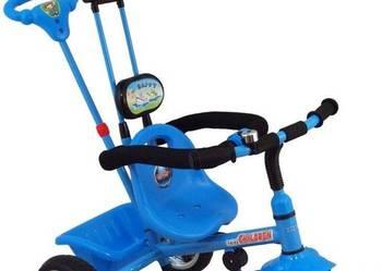 nowy Super Rowerek trójkołowy BABY MIX WAWA niebieski