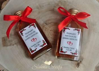 Buteleczki na podziękowania dla gości, prezenty dla gości