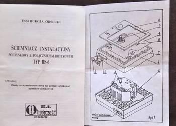 Instrukcja Obsługi Ściemniacz Instalacyjny Typ-RS-6