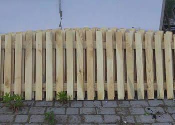 Drewniany Płot sztachetowy 2 m