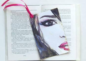 dziewczyna zakładka do książki, fajna zakladką do książki,