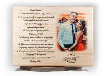 Podziękowania ślubne pamiątka ślub dla rodziców świadków