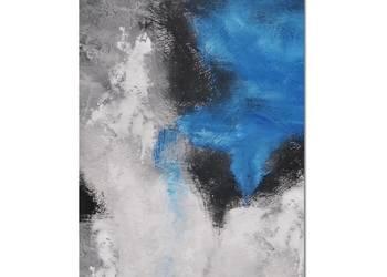 Blue lagoon, abstrakcja, obraz ręcznie malowany
