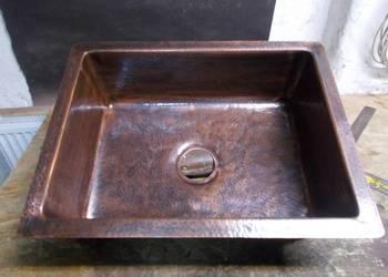 Zlew miedziany copper sink