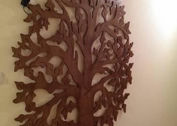 Bardzo duże drzewo, ozdoba na ścianę, wycinanka, dekor