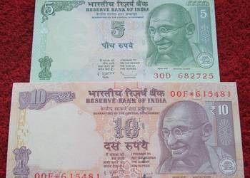 INDIE (2) Kolekcjonerskie Banknoty Zestaw - 2 sztuki UNC