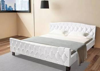 vidaXL Rama łóżka ze sztucznej skóry,  biała (244259)