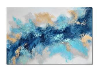 Aurora 4, abstrakcja, nowoczesny obraz ręcznie malowany